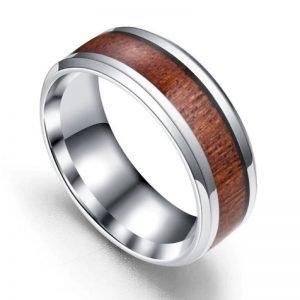 Wooden Eden Titanium Ring