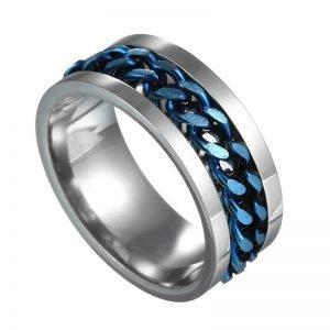 Bentley Blue Spinner Mens Ring