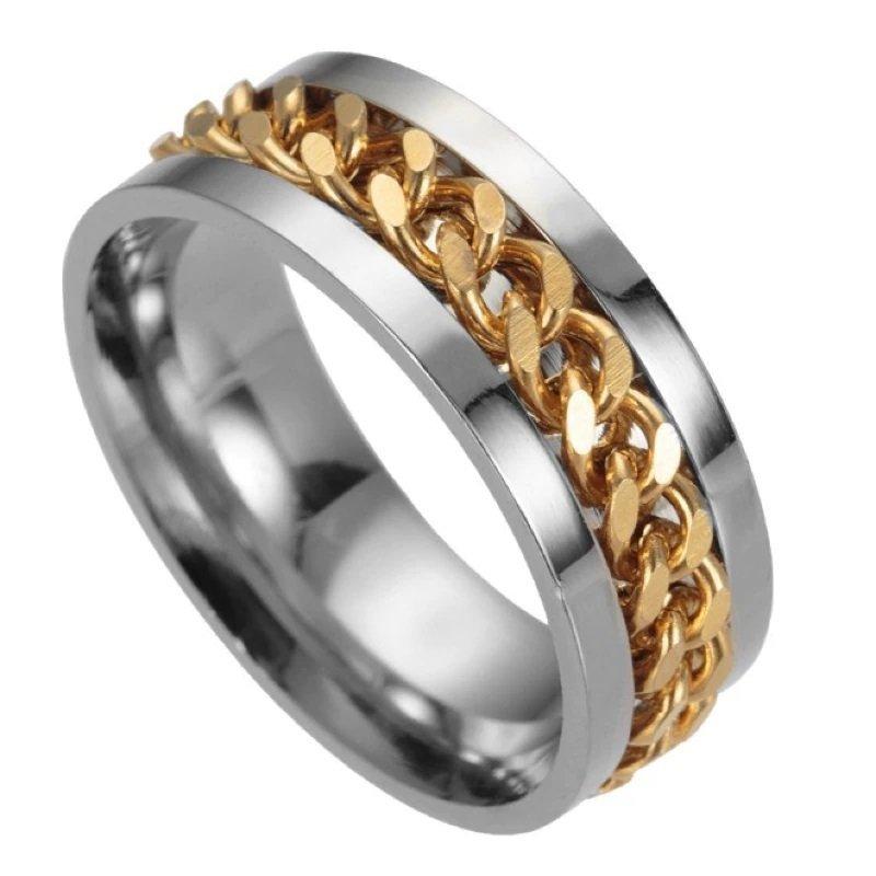 Bentley Gold Spinner Mens Ring