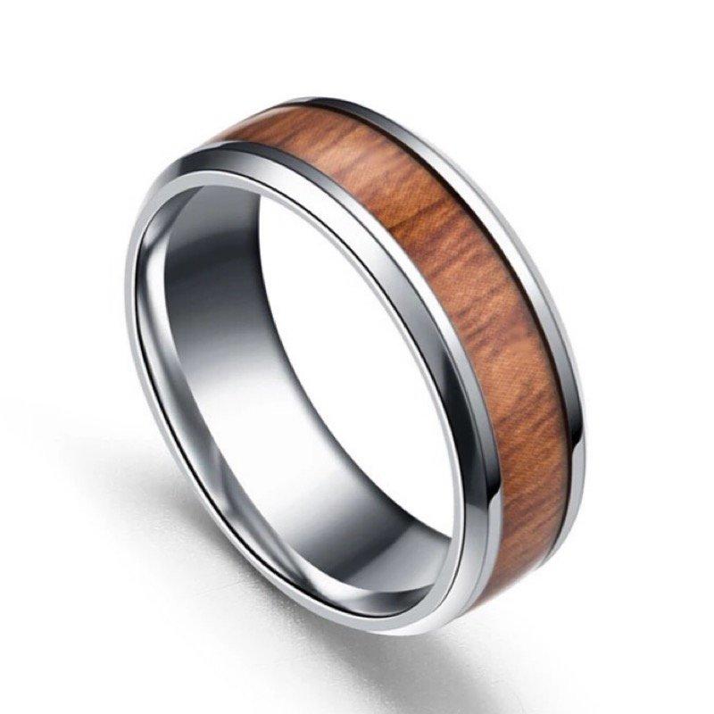 Wooden Acacia Titanium Ring