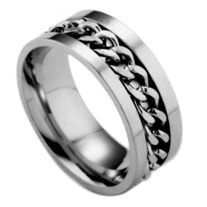Silver Chain Links Fashion RingSilver Chain Links Fashion Ring