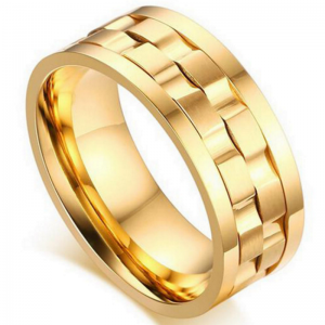 Duke Gold Titanium Spinner Men's Ring, Mens Rings Online, Men's ring, Spinner Ring, Just Rings Online