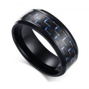 Raven Blue Titanium Men's Ring, Men's Rings Online, Men's Ring, Titanium Rings, Just Rings Online