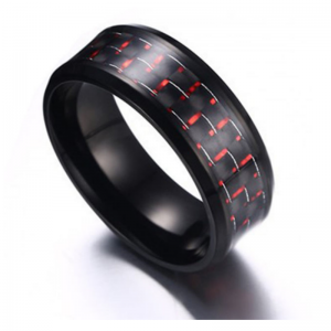 Raven Red Titanium Men's Ring, Men's Rings Online, Men's Rings, Just Rings