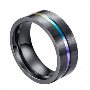 Titan Black Titanium Men's Ring, Men's Rings Online, Men's Rings,