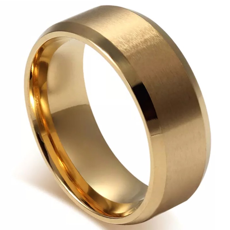 Chicago Gold Titanium Men's Ring, gold wedding band, gold wedding ring, mens ring online, wedding band, afterpay