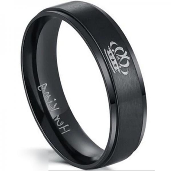 'Her King' Black Men's Ring, Mens Rings Online, Mens wedding ring, Couples Rings, Bridal sets, wedding bend set