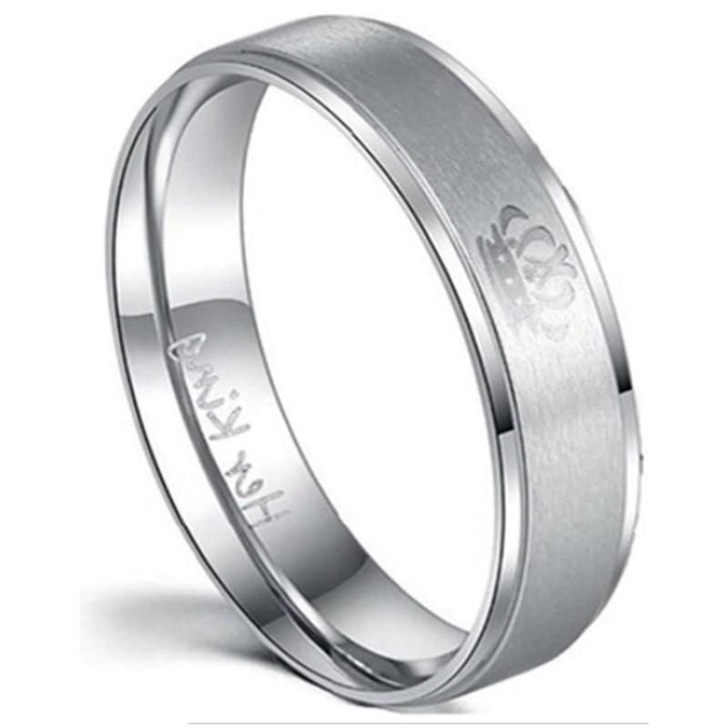 'Her King' Silver Men's Ring, Mens Rings Online, Mens wedding ring, Couples Rings, Bridal sets, wedding bend set