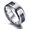 """Dad"" Blue Silver Men's Ring wedding band, wedding ring, grooms ring, mens rings online, wedding rings online, tungsten ring, rose gold ring, afterpay, oxipay, paypal"