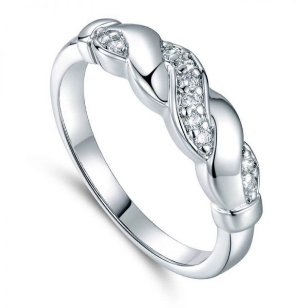 Astara Silver Tone Stainless Ladies Ring