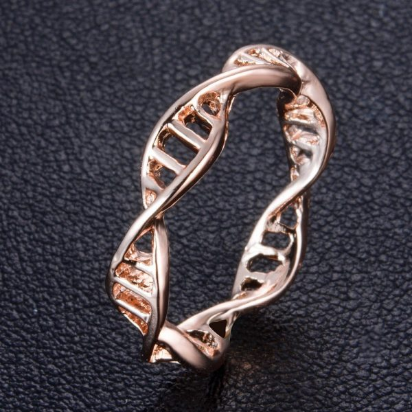 DNA Rose Gold Tone Ladies Ring, Just Rings Online, Ladies rings online, prouds, micheal hill, Afterpay , Humm, Laybuy, PayPal, latitudepay