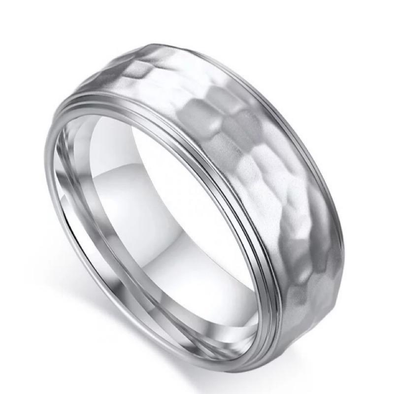 Hammertone Silver Ring, Mens Ring Online, Ladies Rings,
