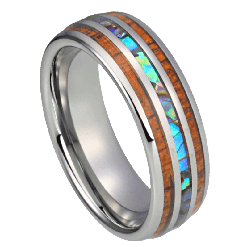 Rambo Tungsten Ring, Men's Rings Online, Men's Ring Just Rings Online, Free Express Postage, Free Shipping, Australian Stock , Fast Service, Easy Exchange, Free ring sizer, Ladies Ring, Womens wedding , Ladies wedding band, silver Tone, abalone shell, wood ring, wooden ring